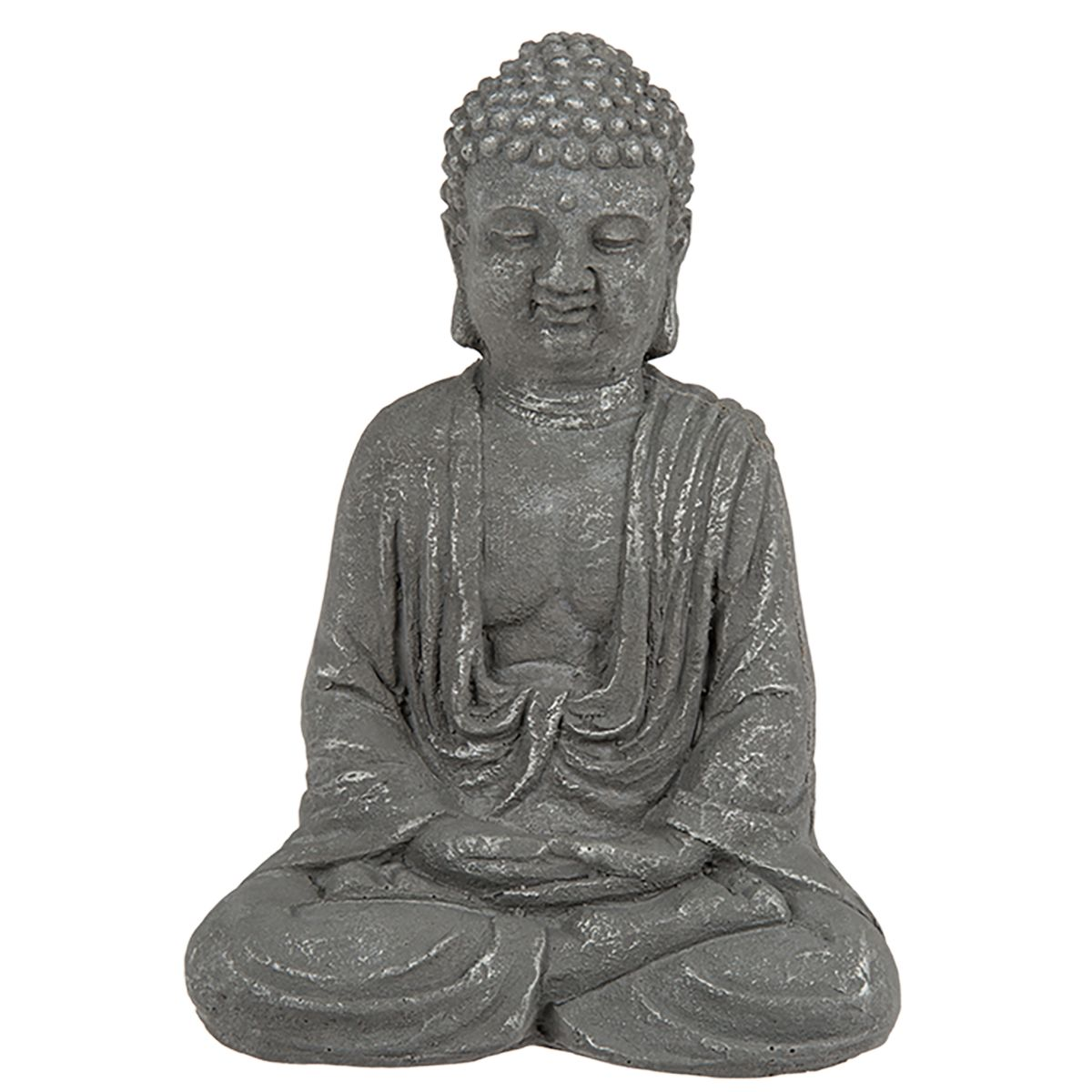thai buddha dekofigur aus zement 15 5 cm. Black Bedroom Furniture Sets. Home Design Ideas