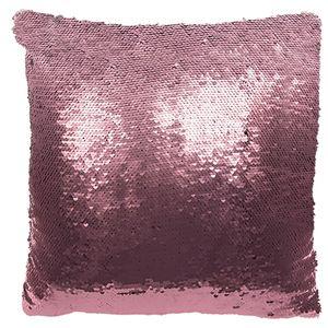 Wandelbares Paillettenkissen Glamour rosa-silber