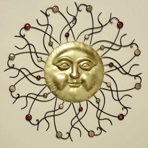 Wand-Objekt Sonne aus Eisen, Ø 74 cm