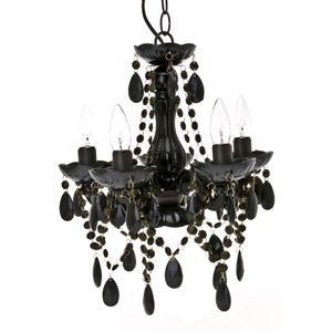 Kronleuchter / Deckenlampe Gypsy schwarz, 38 cm Ø