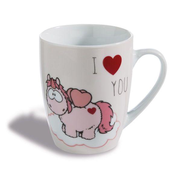 "Nici Tasse Einhorn Merry Heart  ""I LOVE YOU"""