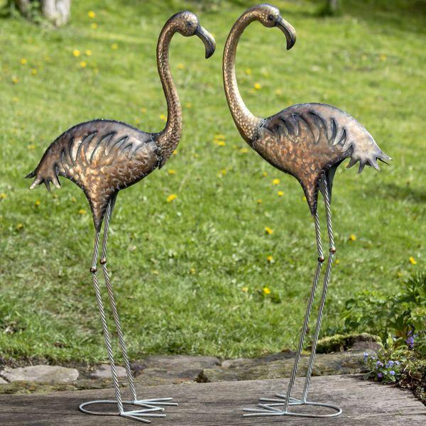 Metall Flamingo Malaya, 2 Modelle zur Auswahl