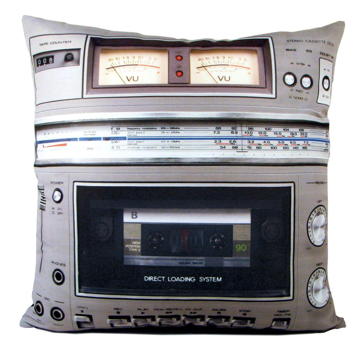 kissen motiv boombox ghettoblaster 40 x 40 cm. Black Bedroom Furniture Sets. Home Design Ideas