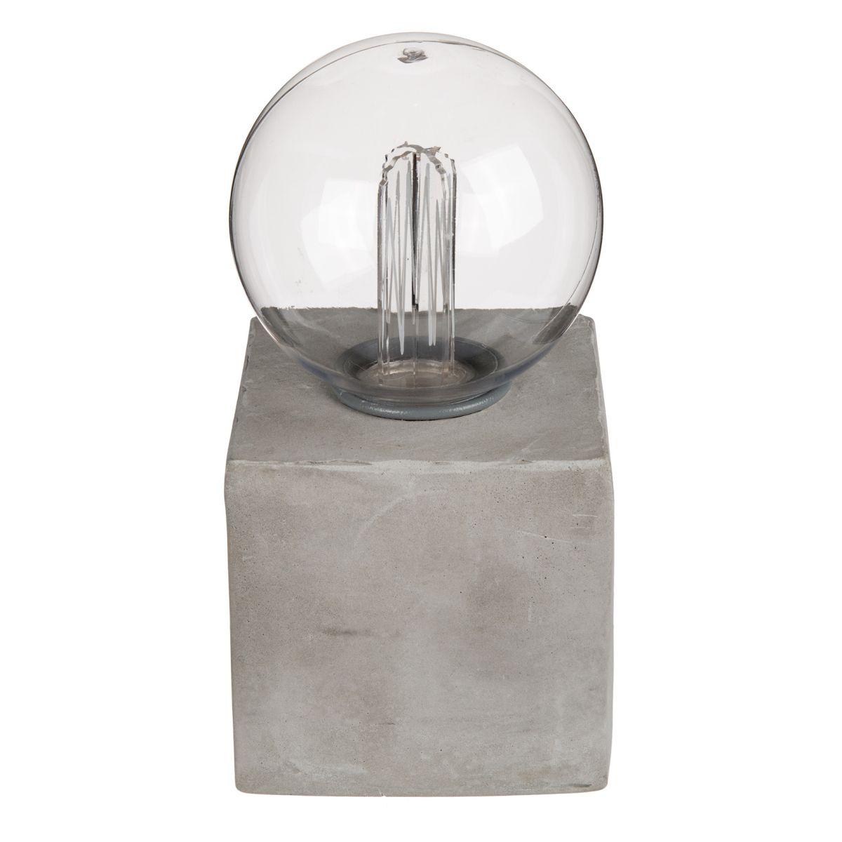 deko leuchte led retro gl hlampe auf zementsockel. Black Bedroom Furniture Sets. Home Design Ideas