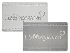 Tischset Lieblingsessen | Grau