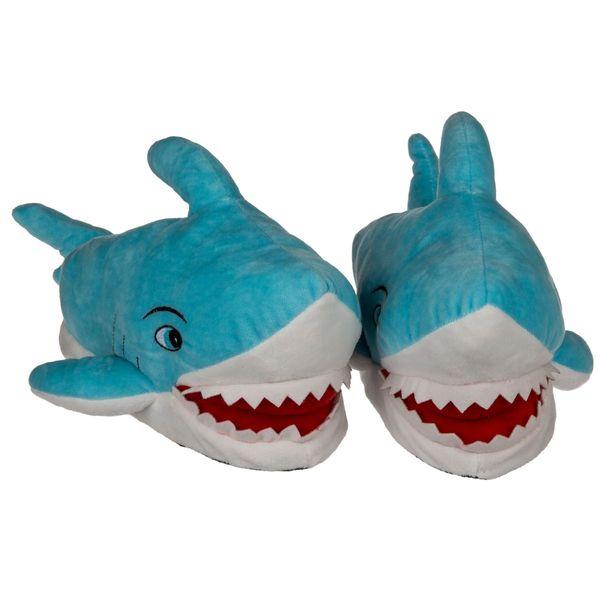 Plüsch Hausschuhe Hai versch. Größen Erwachsene