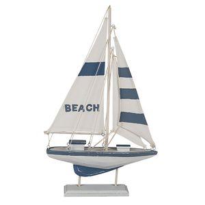 "Deko Holz Segelschiff "" BEACH "" 42 cm"
