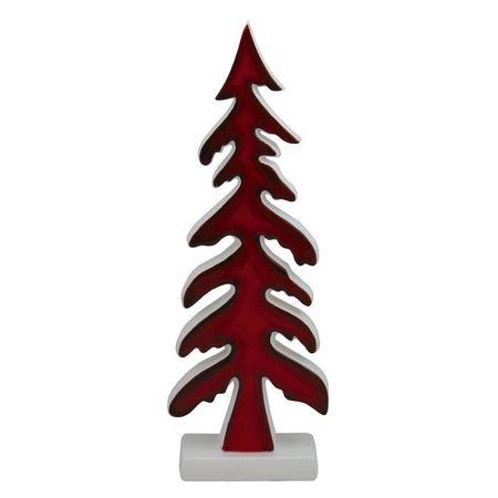 Baum Keramik rot klein 9*4*26