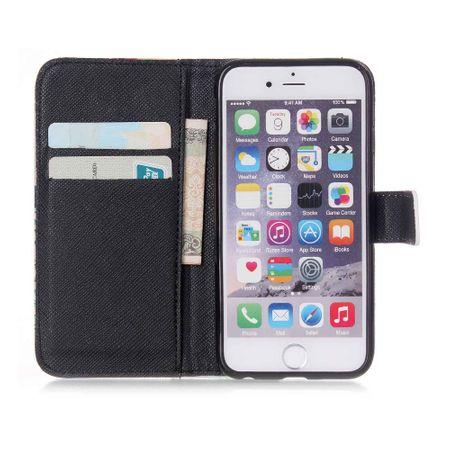 Handyhülle Tasche für Handy Lenovo A850  Schriftzug Smile Blau – Bild 4