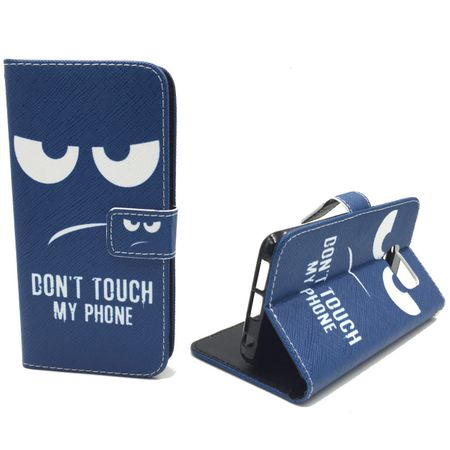 Handyhülle Tasche für Handy Samsung Galaxy S6 Edge  Dont Touch my Phone