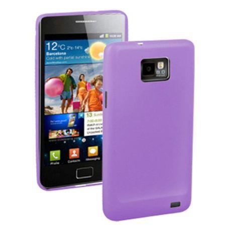 Schutzhülle Case Ultra Dünn 0,3mm für Handy Samsung Galaxy S2 i9100 Lila / Violett Transparent