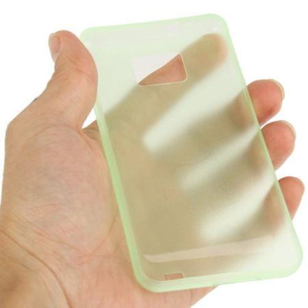 Schutzhülle Case Ultra Dünn 0,3mm für Handy Samsung Galaxy S2 i9100 Grün Transparent – Bild 3