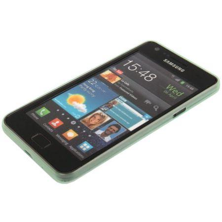 Schutzhülle Case Ultra Dünn 0,3mm für Handy Samsung Galaxy S2 i9100 Grün Transparent – Bild 4