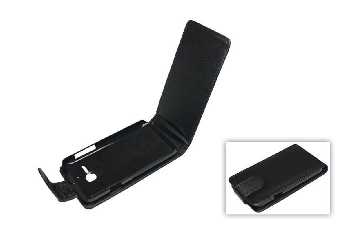 Handyhülle Tasche (Flip) für Alcatel One Touch Pop OT-5020 schwarz