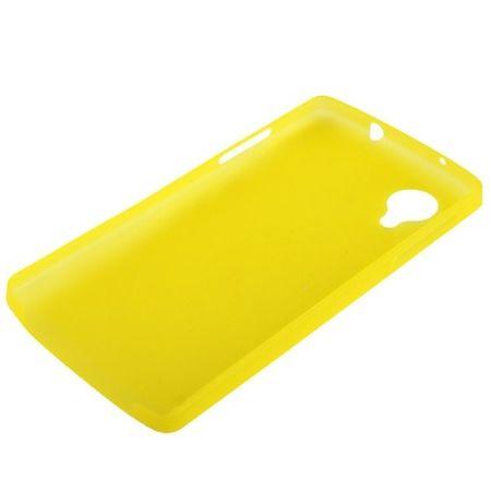 Schutzhülle Case Ultra Dünn 0,3mm für Handy Google Nexus 5 Gelb Transparent – Bild 2
