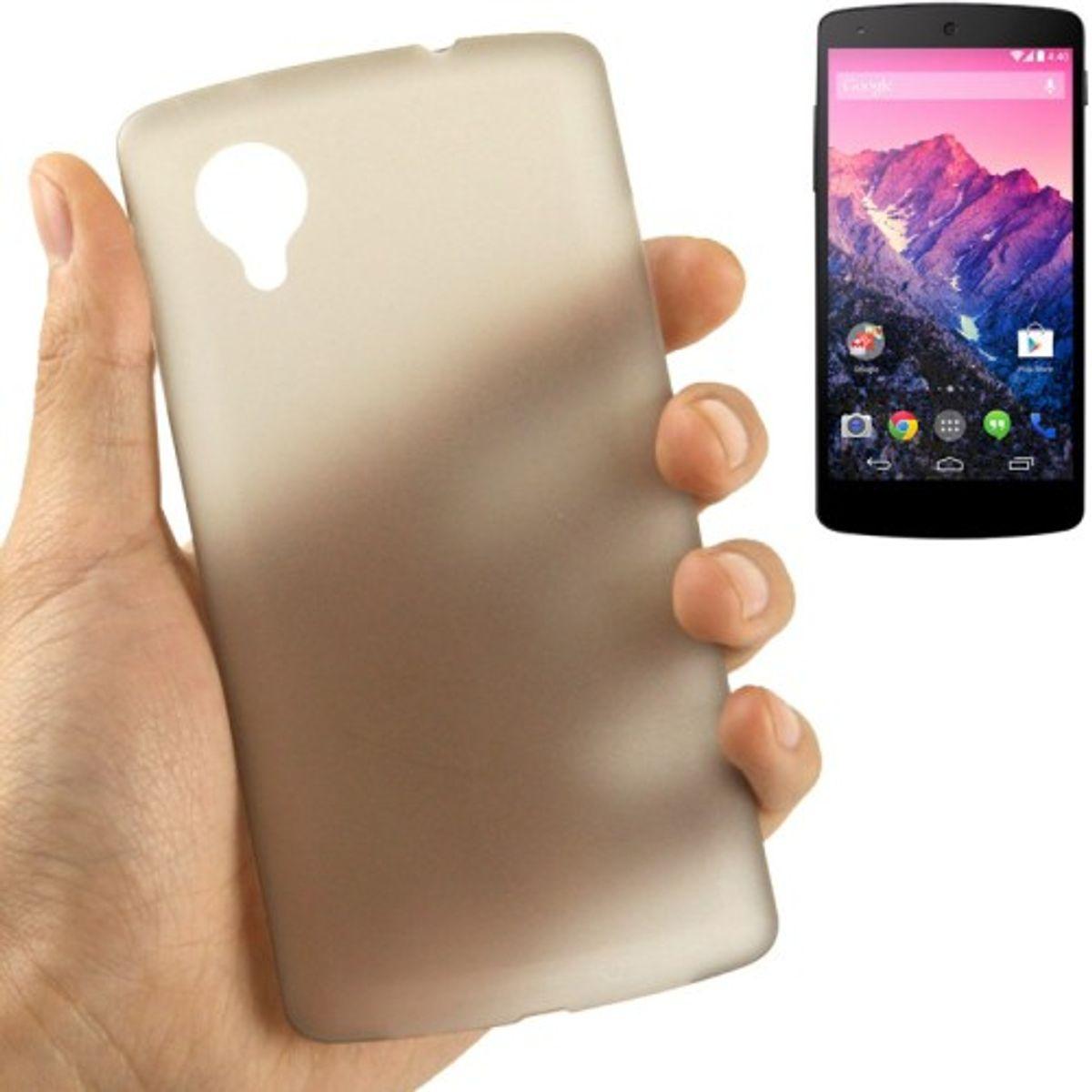 Schutzhülle Case Ultra Dünn 0,3mm für Handy Google Nexus 5 Grau Transparent