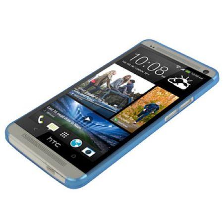 Schutzhülle Case Ultra Dünn 0,3mm für Handy HTC One M7 Blau Transparent – Bild 2