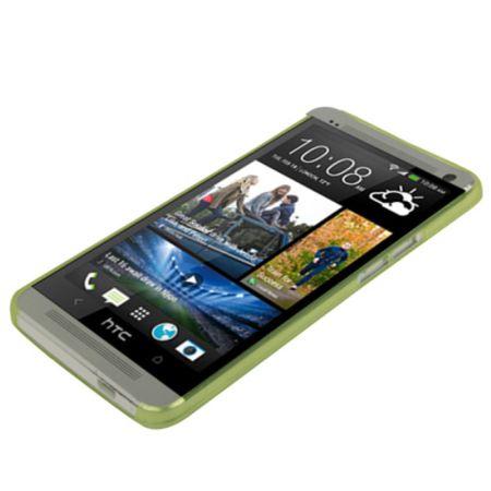 Schutzhülle Case Ultra Dünn 0,3mm für Handy HTC One M7 Grün Transparent – Bild 4