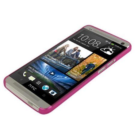 Schutzhülle Case Ultra Dünn 0,3mm für Handy HTC One M7 Pink Transparent – Bild 2
