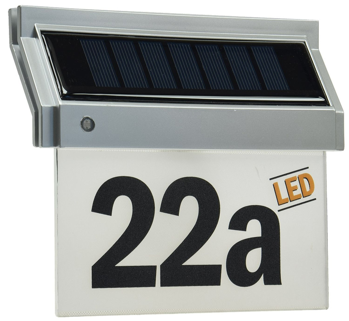 Solar Hausnummernleuchte Hausnummer mit LED 18x16x5cm incl. Zahlen Buchstaben