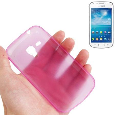 Schutzhülle Case Ultra Dünn 0,3mm für Handy Samsung Galaxy Trend Duos / S7562 Rosa Transparent