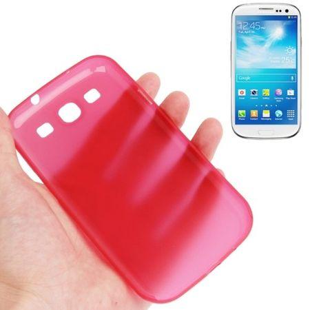 Schutzhülle Case Ultra Dünn 0,3mm für Handy Samsung Galaxy S3 i9300 / i9305 / S3 NEO i9301 Rot Transparent