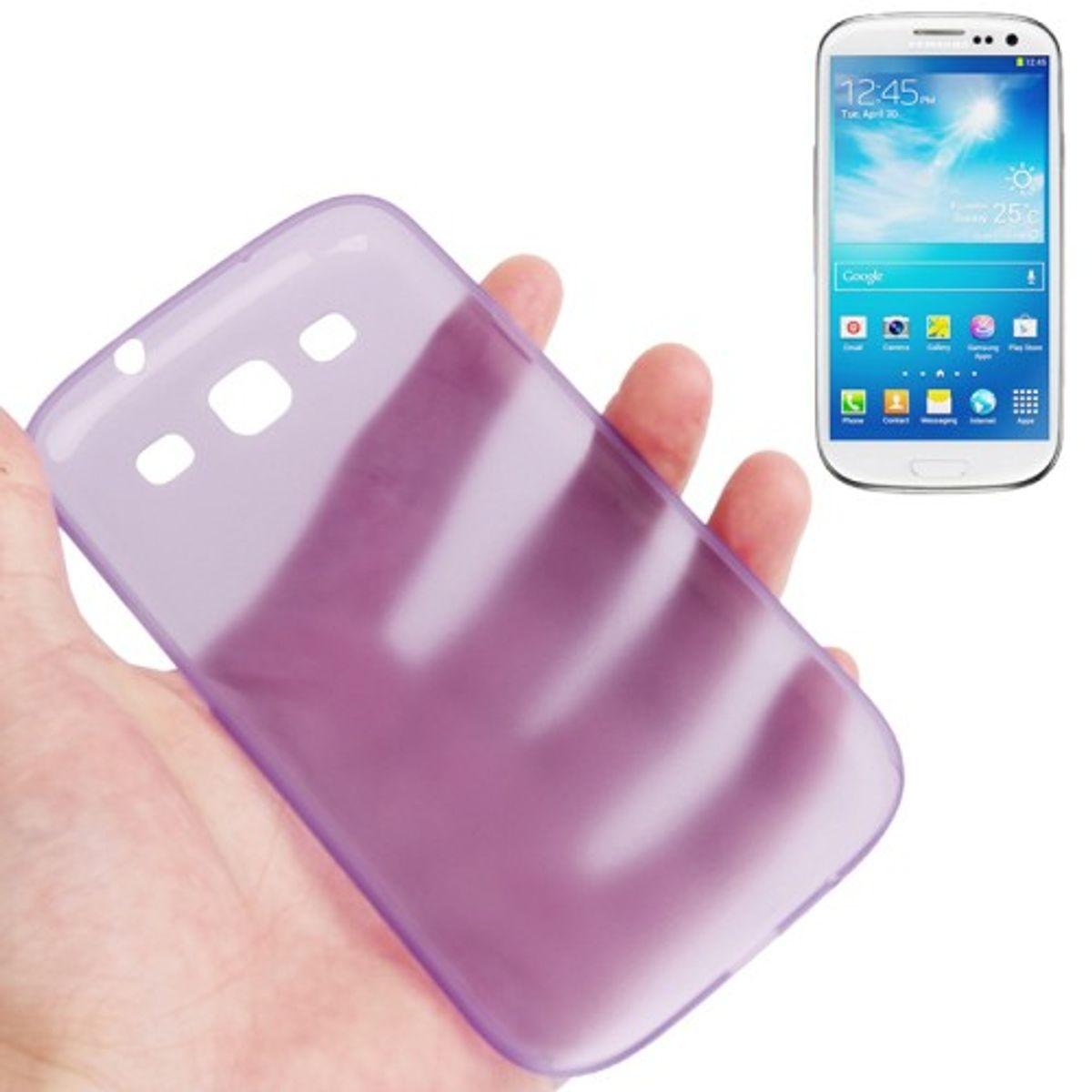 Schutzhülle Case Ultra Dünn 0,3mm für Handy Samsung Galaxy S3 i9300 / i9305 / S3 NEO i9301 Lila / Violett Transparent