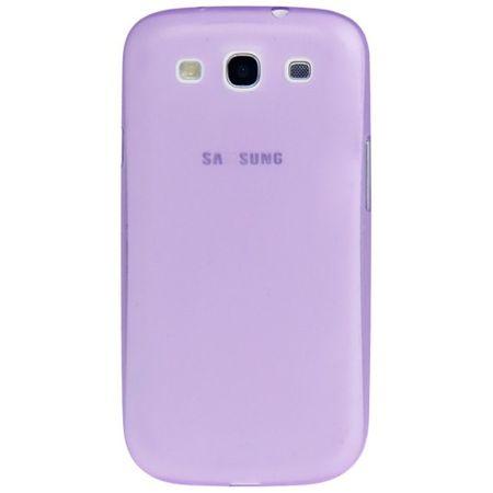 Schutzhülle Case Ultra Dünn 0,3mm für Handy Samsung Galaxy S3 i9300 / i9305 / S3 NEO i9301 Lila / Violett Transparent – Bild 2