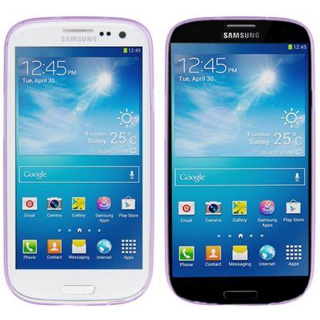 Schutzhülle Case Ultra Dünn 0,3mm für Handy Samsung Galaxy S3 i9300 / i9305 / S3 NEO i9301 Lila / Violett Transparent – Bild 3