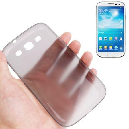 Schutzhülle Case Ultra Dünn 0,3mm für Handy Samsung Galaxy S3 i9300 / i9305 / S3 NEO i9301 Grau Transparent – Bild 1