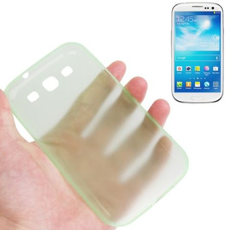 Schutzhülle Case Ultra Dünn 0,3mm für Handy Samsung Galaxy S3 i9300 / i9305 / S3 NEO i9301 Grün Transparent