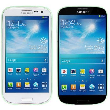 Schutzhülle Case Ultra Dünn 0,3mm für Handy Samsung Galaxy S3 i9300 / i9305 / S3 NEO i9301 Grün Transparent – Bild 3