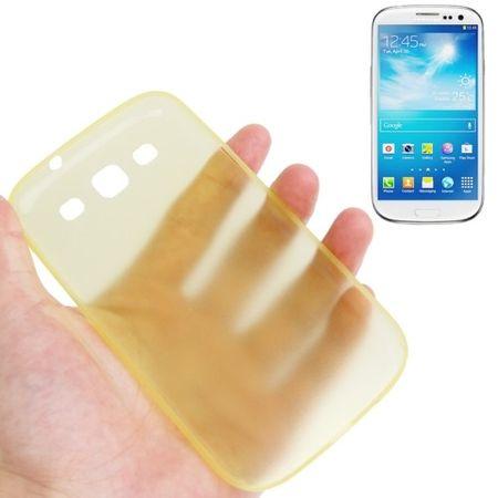 Schutzhülle Case Ultra Dünn 0,3mm für Handy Samsung Galaxy S3 i9300 / i9305 / S3 NEO i9301 Gelb Transparent – Bild 1