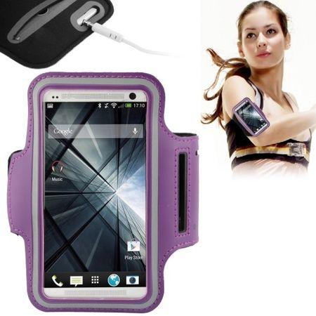 Sportarmband Tasche für Handy Samsung Galaxy S5 Neo Violett / Lila