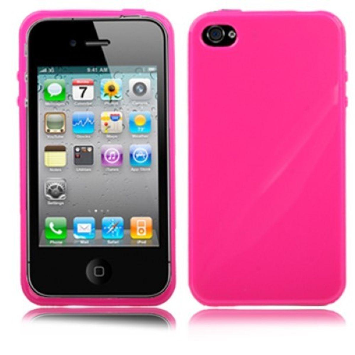 Schutzhülle TPU für Handy Apple iPhone 4 / 4s Pink