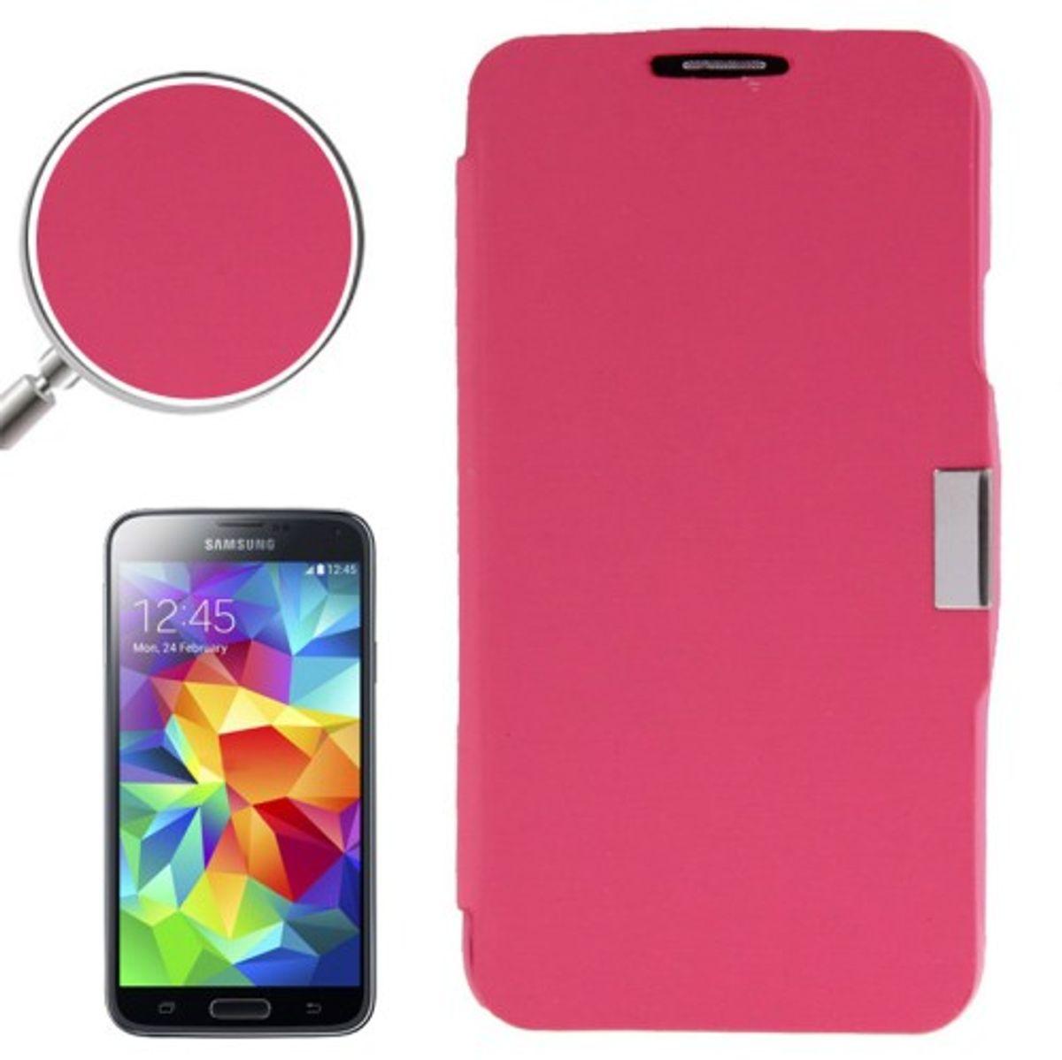 Handyhülle Tasche für Samsung Galaxy S5 / S5 Neo rosa gebürstet