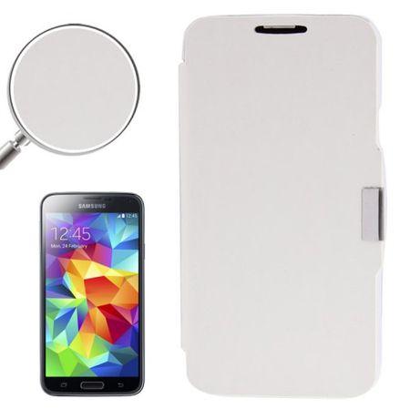 Handyhülle Tasche für Samsung Galaxy S5 / S5 Neo weiß gebürstet