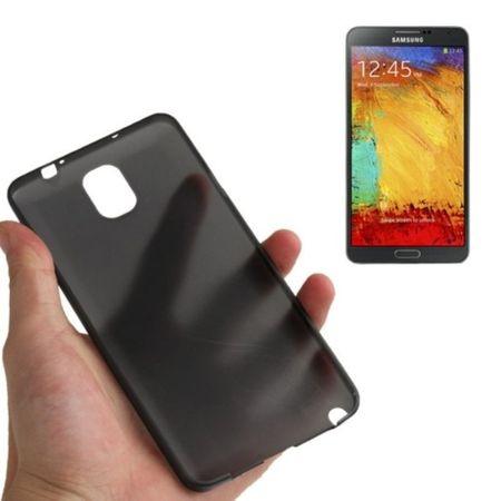 Schutzhülle Case Ultra Dünn 0,3mm für Handy Samsung Galaxy Note 3 N9000 Schwarz Transparent