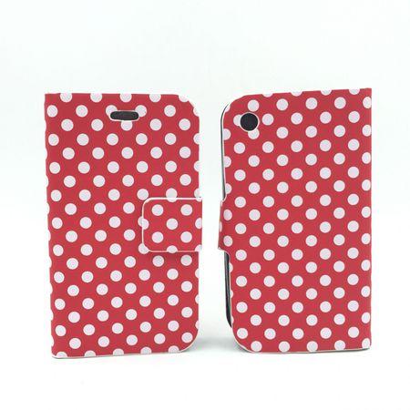 Schutzhülle Tasche (Flip Quer) für Handy Apple iPhone 3 / 3G / 3GS Rot – Bild 2