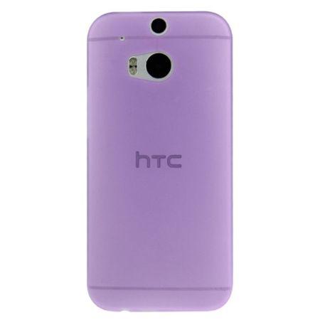 Schutzhülle Case Ultra Dünn 0,3mm für Handy HTC One M8 / M8s Lila / Violett Transparent – Bild 3