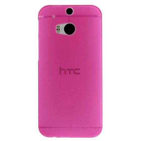Schutzhülle Case Ultra Dünn 0,3mm für Handy HTC One M8 / M8s Pink Transparent – Bild 3