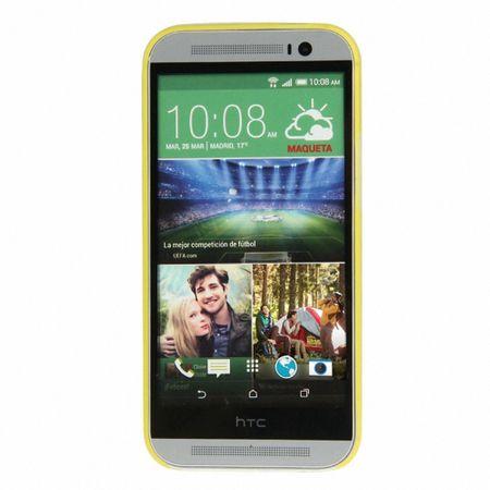 Schutzhülle Case Ultra Dünn 0,3mm für Handy HTC One M8 / M8s Gelb Transparent – Bild 2