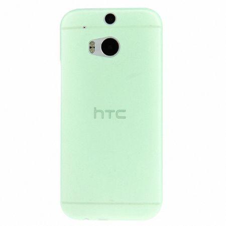 Schutzhülle Case Ultra Dünn 0,3mm für Handy HTC One M8 / M8s Grün Transparent – Bild 3