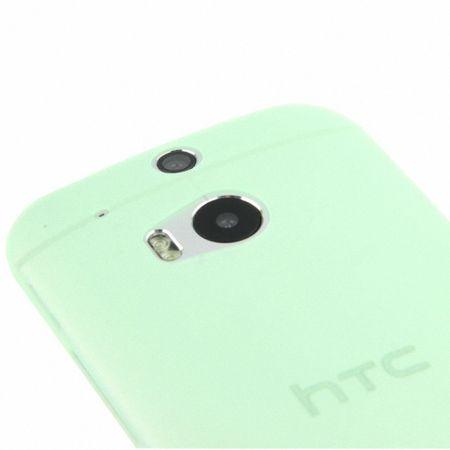 Schutzhülle Case Ultra Dünn 0,3mm für Handy HTC One M8 / M8s Grün Transparent – Bild 5