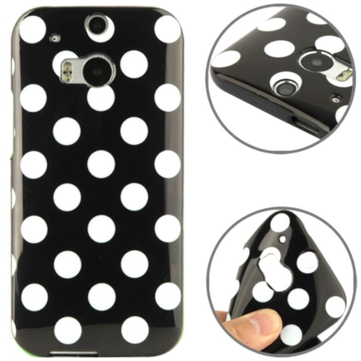 Schutzhülle TPU Case für Handy HTC One M8 / M8s Schwarz