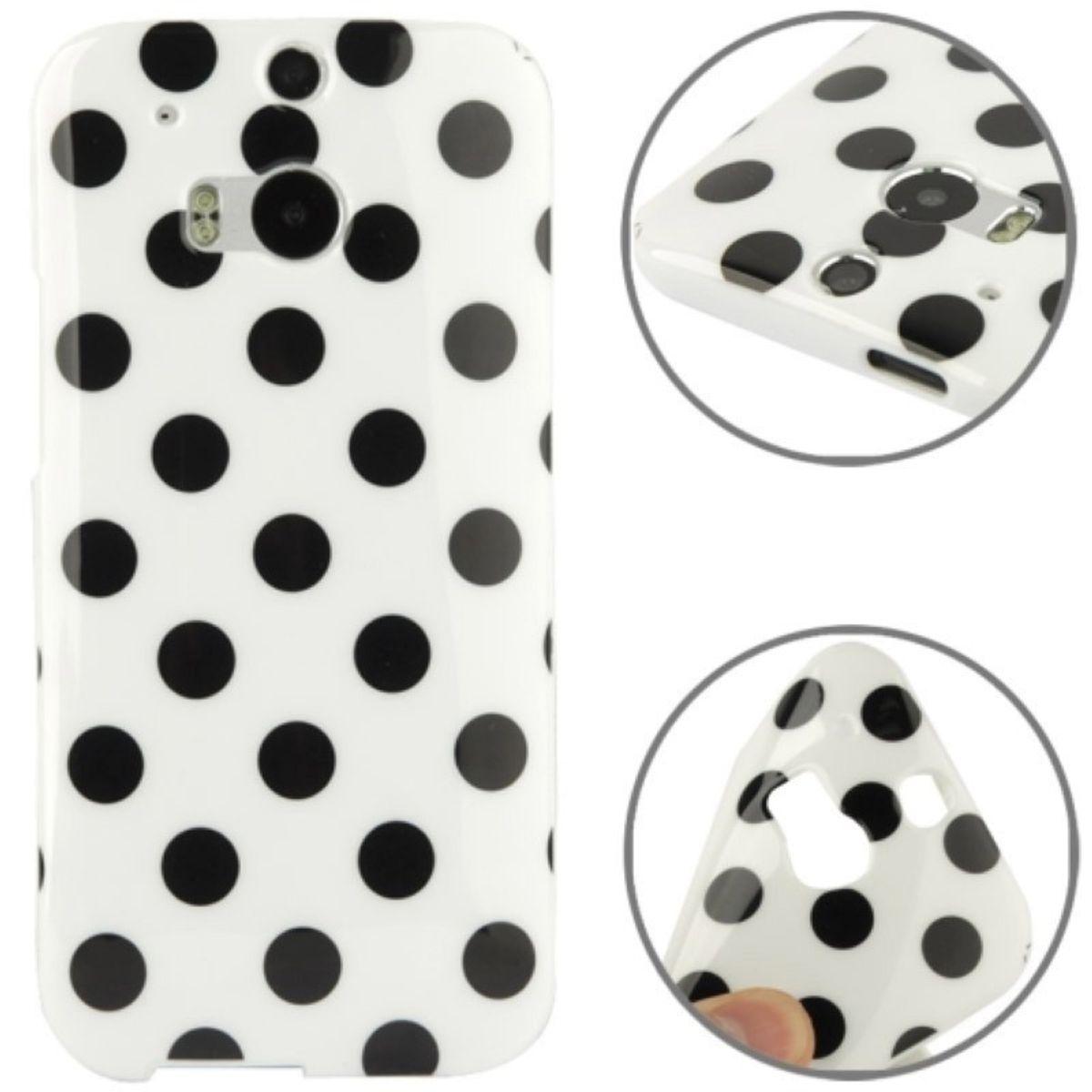 Schutzhülle TPU Case für Handy HTC One M8 / M8s Weiß