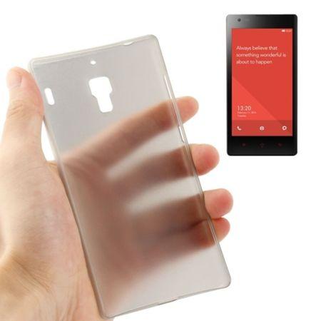 Schutzhülle Case Ultra Dünn 0,3mm für Handy Xiaomi Redmi Grau Transparent