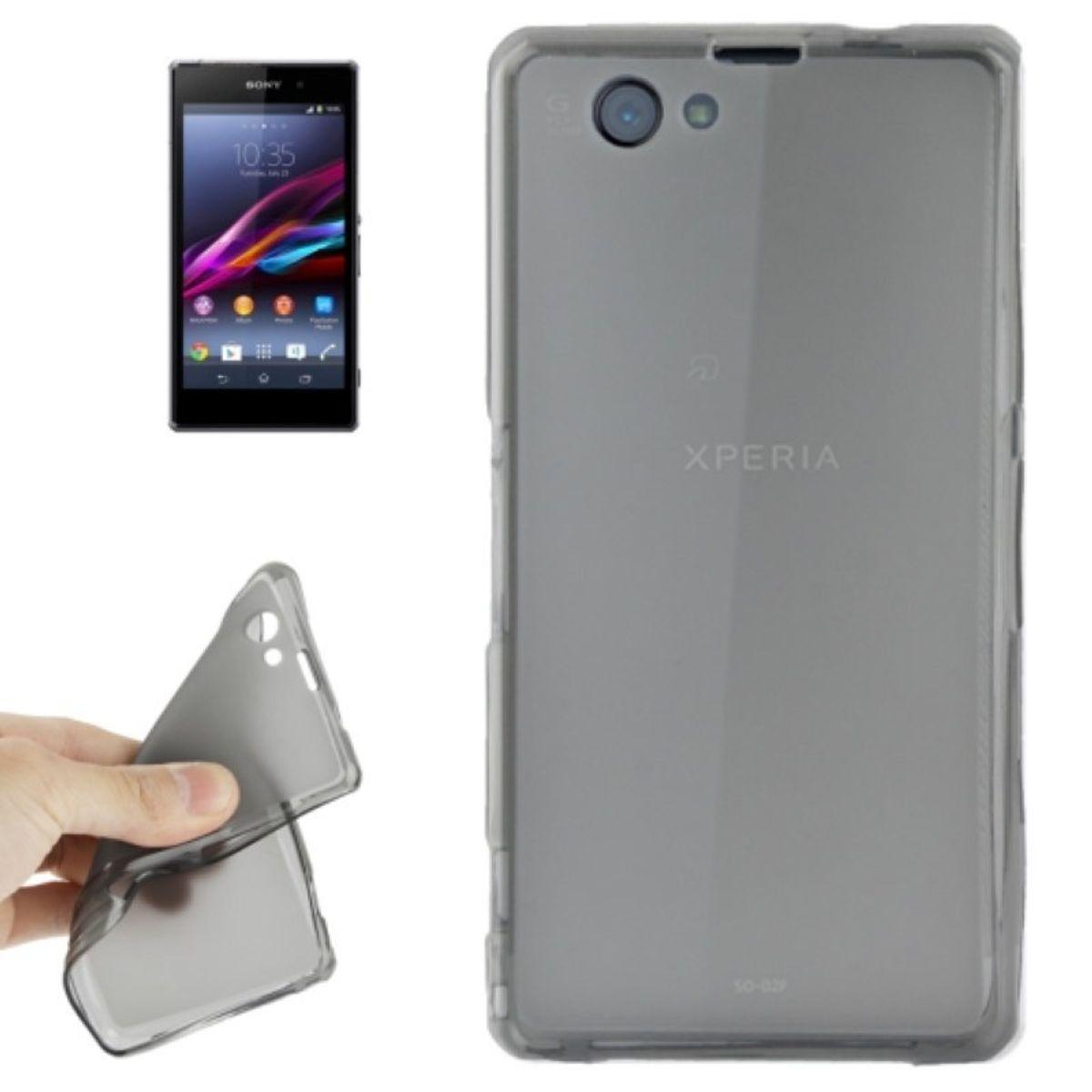 Handyhülle Transluzente TPU Tasche für Sony Xperia Z1 mini Grau