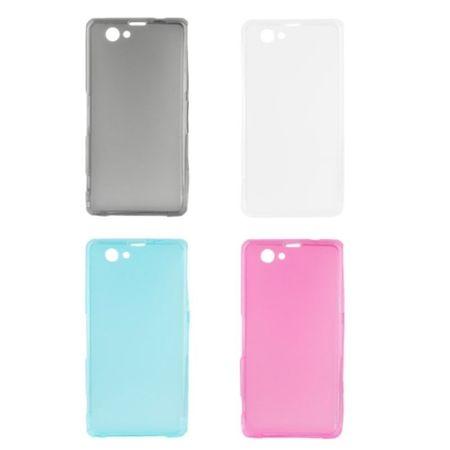 Handyhülle Transluzente TPU Tasche für Sony Xperia Z1 mini Grau – Bild 4