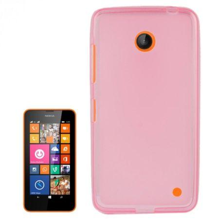 Handyhülle Transluzente TPU Tasche für Nokia Lumia 630 / 635 Pink